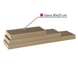 Polica, dub pieskový, 30x25, GANA FY 11044-5 30