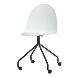 TEMPO KONDELA Kancelárska stolička, biela/čierna, BRUNA