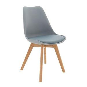 Stolička, sivá/buk, BALI NEW, poškodený tovar