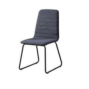 TEMPO KONDELA Jedálenská stolička, tmavosivá látka/čierny kov, DANUTA