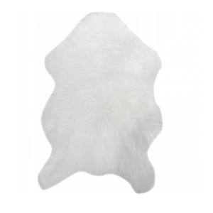 TEMPO KONDELA Umelá kožušina, biela, 60x90, EBONY TYP 1