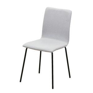 TEMPO KONDELA Jedálenská stolička, svetlosivá/čierna, RENITA