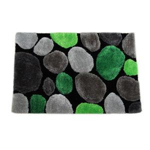TEMPO KONDELA Koberec, zelená/sivá/čierna, 120x180, PEBBLE TYP 1