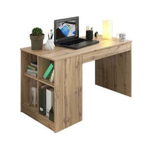 TEMPO KONDELA PC stôl, dub wotan, VENDI