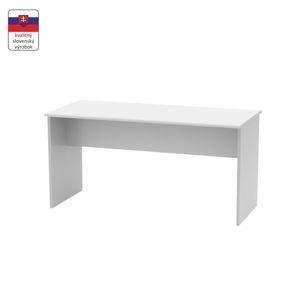TEMPO KONDELA Kancelársky stôl, obojstranný,  biela, JOHAN NEW 08