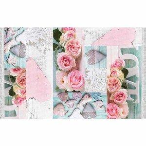TEMPO KONDELA Koberec, vzor ruže, viacfarebný, 160x230, SONIL TYP 2