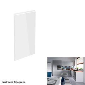 Dvierka na umývačku riadu, biela/sivá extra vysoký lesk HG, 44,6x571,3, AURORA