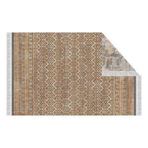 Obojstranný koberec, vzor/hnedá, 180x270, MADALA