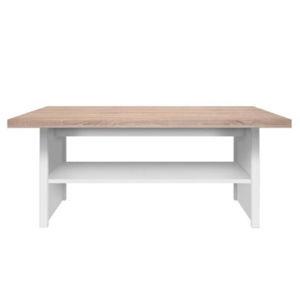 Konferenčný stolík 115, biela/dub sonoma, TOPTY TYP 18, poškodený tovar