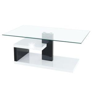 Konferenčný stolík, biela extra vysoký lesk HG/čierna extra vysoký lesk HG, LARS NEW, rozbalený tovar