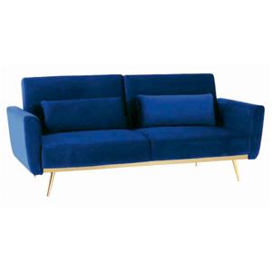Rozkladacia pohovka, kráľovská modrá Velvet látka/gold chróm-zlatý, HORSTA